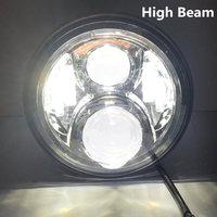"""7 дюймов круглый проектор daymaker Н4 светодиодные фары для Jeep вранглер JK и TJ ЖЖ 7 """"гало ангел глаз отложным воротником световой сигнал вождения фар"""