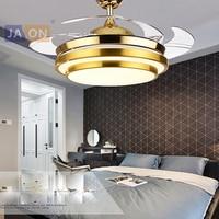 LED Modern Steel Alloy Acryl ABS Golden Red Ceiling Fan.LED Lamp.LED Light.Ceiling Lights.LED Ceiling Light.For Foyer Bedroom