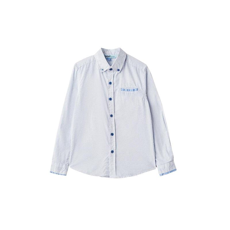 Blouses & Shirts MODIS M182K00070 for boys kids clothes children clothes TmallFS kids clothes sets for girls turn down collar blouses