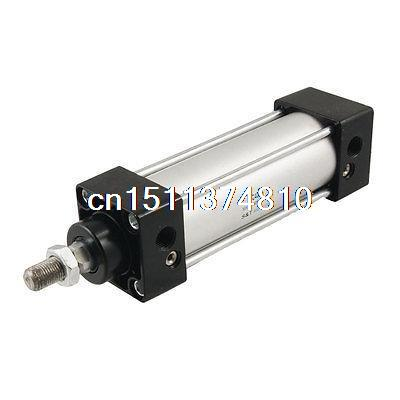 SC 40mm x75mm Aluminum Alloy Single Rod Pneumatic Air Cylinder silver tone aluminum alloy air compressor connecting rod 12mm x 20mm x 69mm