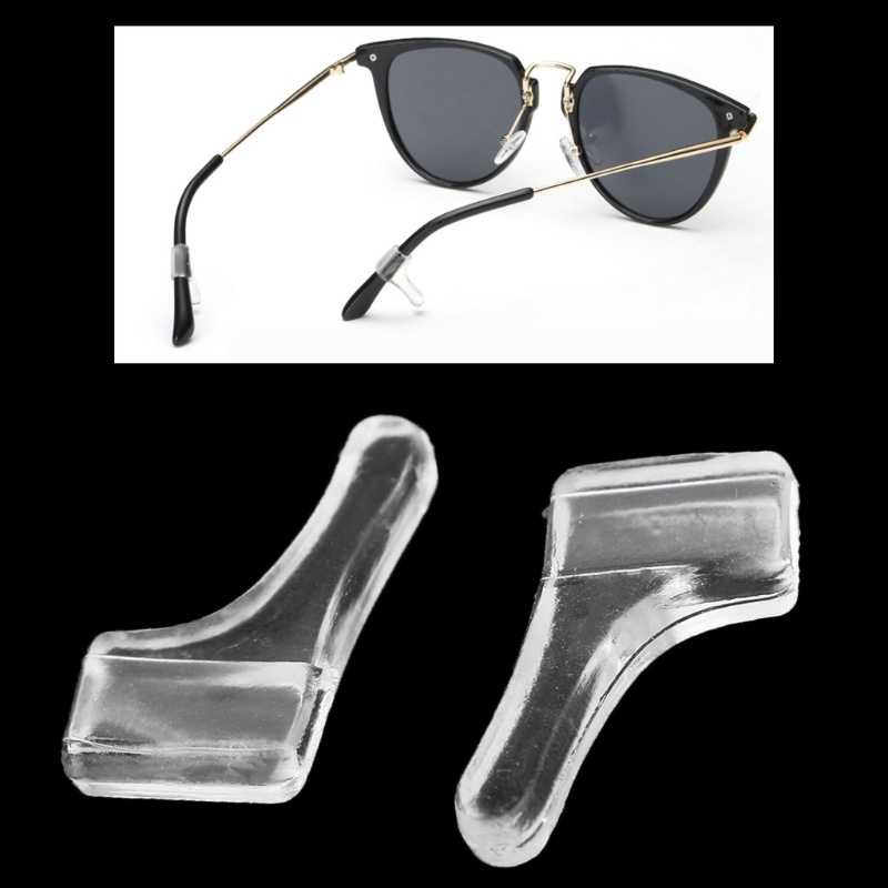 Hot New 10 Pairs Men Women Transparent Ear Hooks Glasses Leg Non Slip PVC Holder Temple Tip Soft High Quality