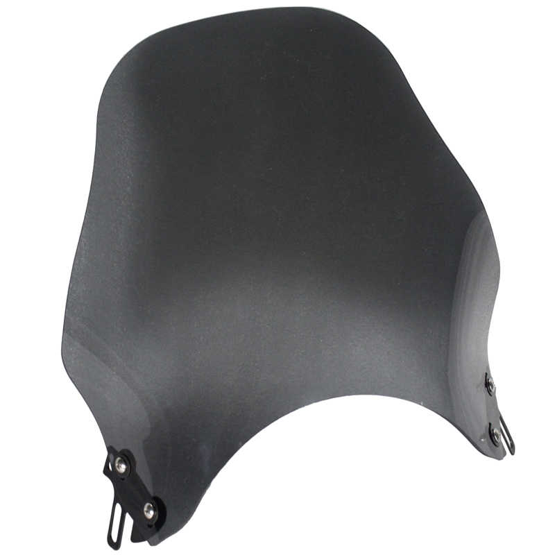 Motorcycle Headlight Round Windshield Windscreen For Honda Kawasaki Yamaha Suzuki Street Bikes Wind Screen Glass