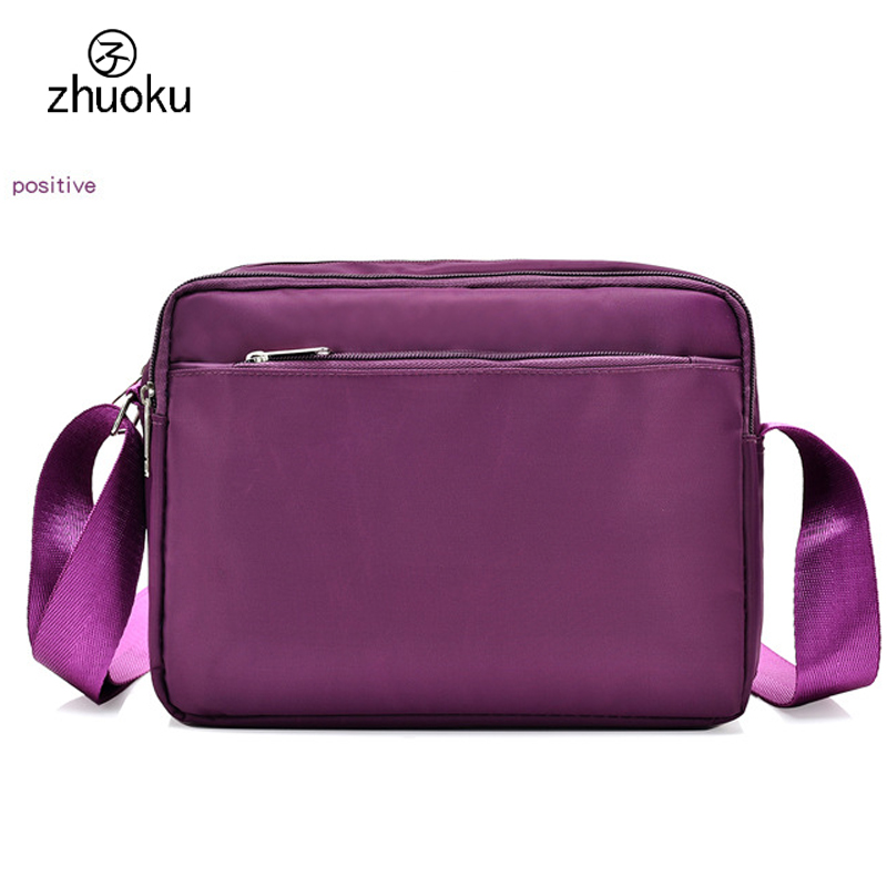 цена Free shipping Crossbody bags for women Shoulder Bags 3 layer zipper women's bags good quality Oxford women messenger bags ZK766