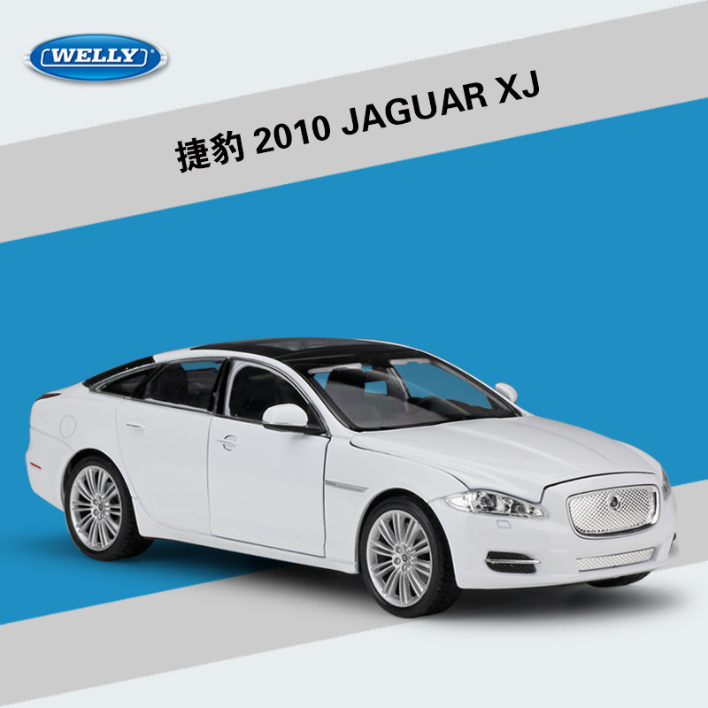 WELLY 1:24 Diecast Scale Simulation Model Car JAGUAR XJ Metal Toy Car Alloy JAGUAR Classic Car Kids Toys Gift Cars Collection