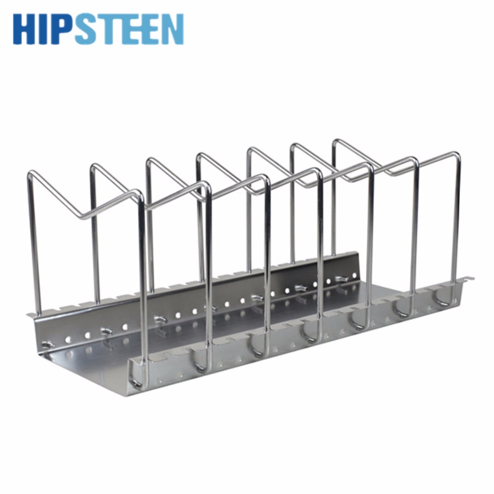 HIPSTEEN Adjustable Stainless <font><b>Steel</b></font> Kitchen Utensil Pantry Rack Dish Plate Storage Holder Organizer Kitchen Tool For The Kitchen