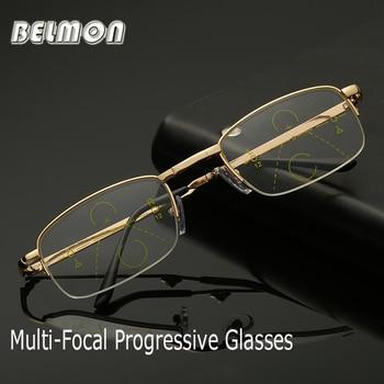 1750235ea9 Belmon Multifocal Progresiva plegable gafas de lectura hombres mujeres  presbicia plegable gafas + 1,0 + 1,5 + 2,0 + 2,5 + 3,0 + 3,5 RS801