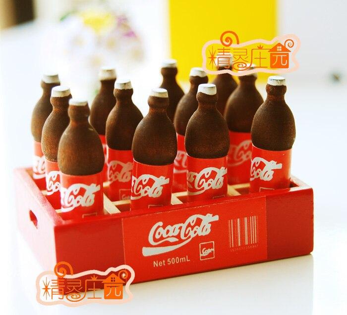 1 6 милые мини кукольный домик миниатюре Еда аксессуары Кукольный китайская  кухня Еда мини моделирование коробка Кока 9cfa4e8e25f