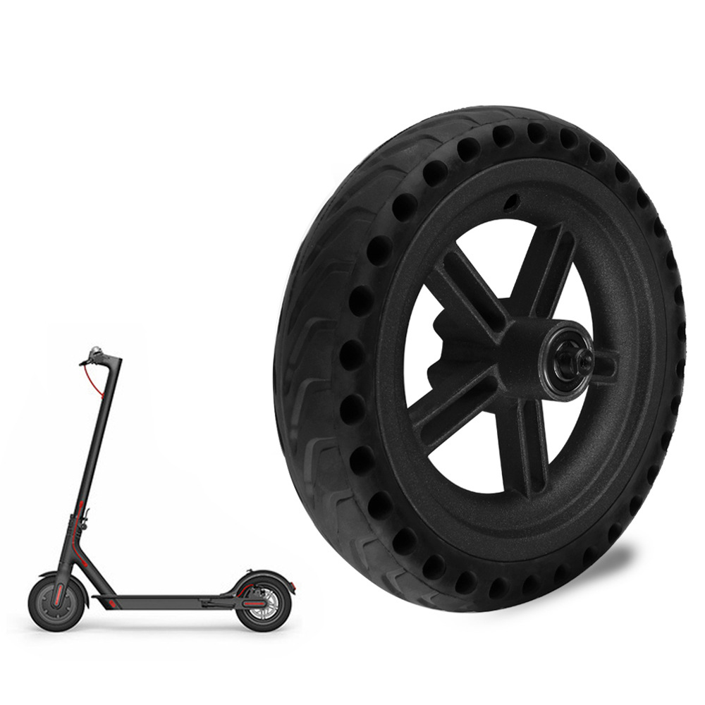Wheel scooter 8 5 Inch Tyres Rear Wheel Hub For Xiaomi Mijia M365 Damping Solid Tyres Hollow Non Pneumatic Tires High quality in Scooter Parts Accessories from Sports Entertainment