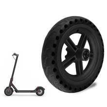 Wheel scooter 8.5 Inch Tyres Rear Wheel Hub For Xiaomi Mijia M365 Damping Solid Tyres Hollow Non-Pneumatic Tires High quality rear gravel tyres with new wheel hub for 1 5 hpi rovan km baja 5b parts