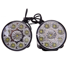 2Pcs 9 LED  Universal Car Daytime Running Light Assembly 12V Auto DRL Fog Day Light Off-road Lamps parking Lamp Daytime Running цена в Москве и Питере