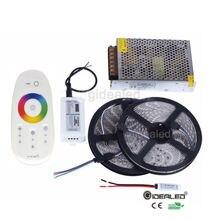 Free shipping Waterproof RGB5050 led strip for 5m/10m/15m/20m RGB strip+2.4G RF Remote Controller+Amplifier+Power supply