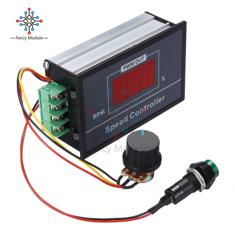 Home Improvement Motor Controller Radient Shina 1pcs 9v-60v 10a Dc Motor Speed Regulator Pulse Width Modulator Pwm Control Switch Governor New