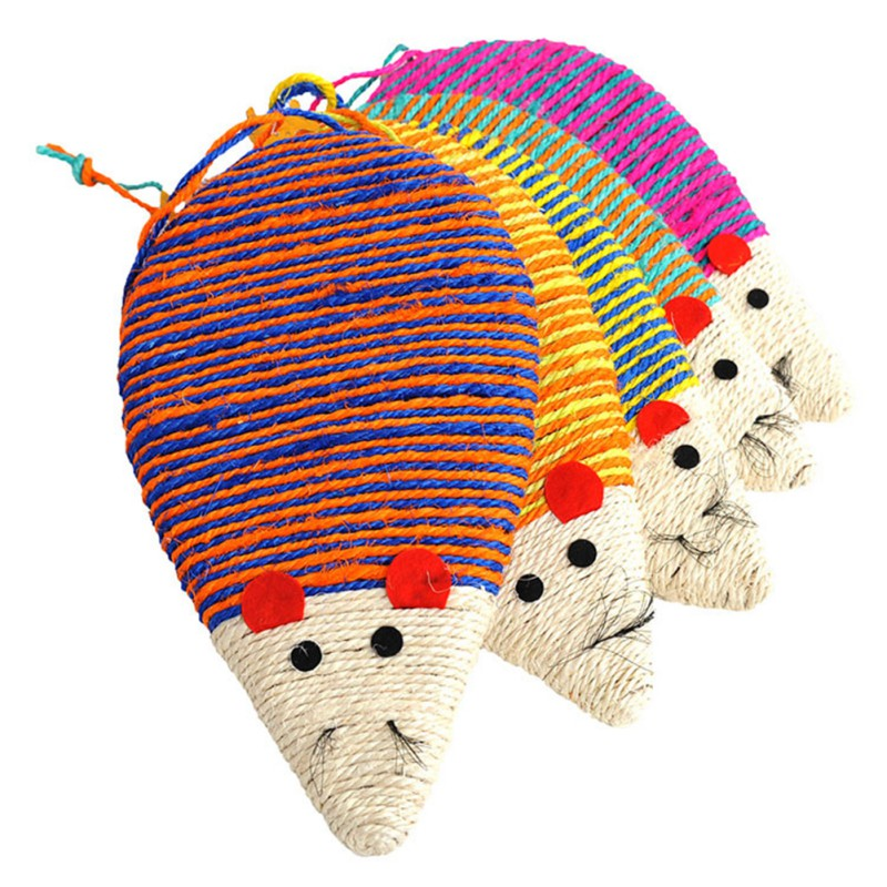 Cats Toy Sisal Scratch Board Mouse Shape Scratching Post Cat Grinding Claws Toys Pet Accessories