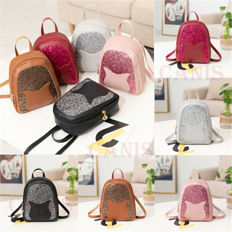 Fashion Girls Mini Faux Leather Backpack School Bag Travel Casual Shoulder Bag