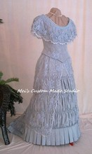 Custom Made Imperial Princess Eugenia Natural Form period Victorian Beaded Day  Bustle Ball Gown/Party Costume