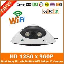 Hd 960 P Wi-Fi Купольная Ip-камера Беспроводная P2p Onvif Motion Detect Security Видеонаблюдения Cmos Веб-Камера Freeshipping Горячей продажа