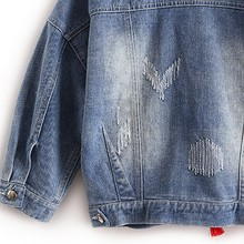 Colorful Butterfly Embroidery Jean Jackets with Tassel