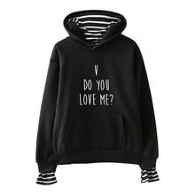 цена на LUCKYFRIDAYF FASHION Do You Love Me Fake Two Piece Hoodies Sweatshirts Cool Harajuku Women/Men Hip Hop Hoodies Clothes 4XL