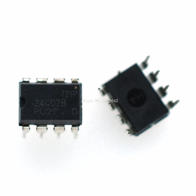 24C02N INTEGRATED CIRCUIT EEPROM IC DIP-8