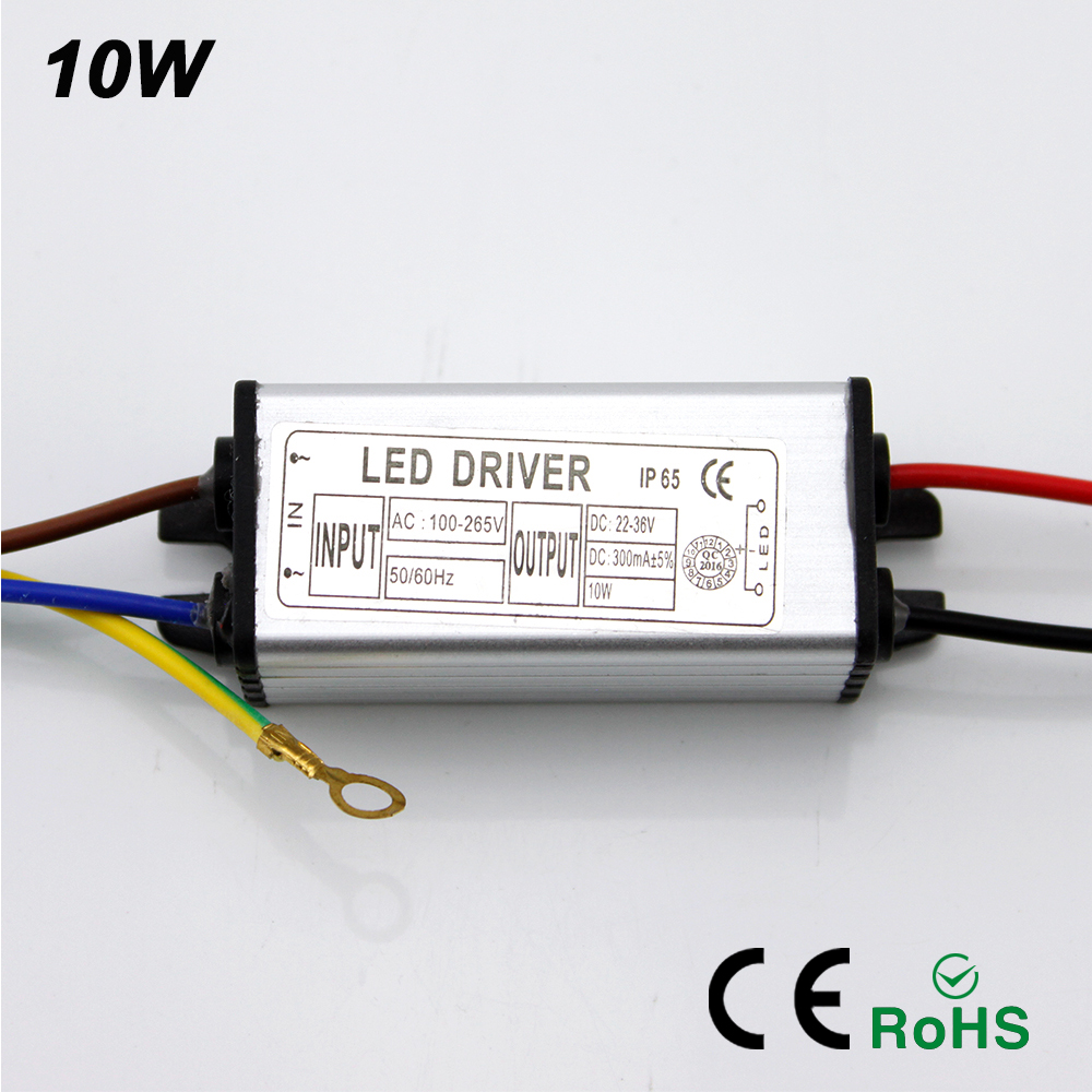 buy ynl led driver adapter transformer 10w 100v 265v ac to 22 36v dc 300ma. Black Bedroom Furniture Sets. Home Design Ideas