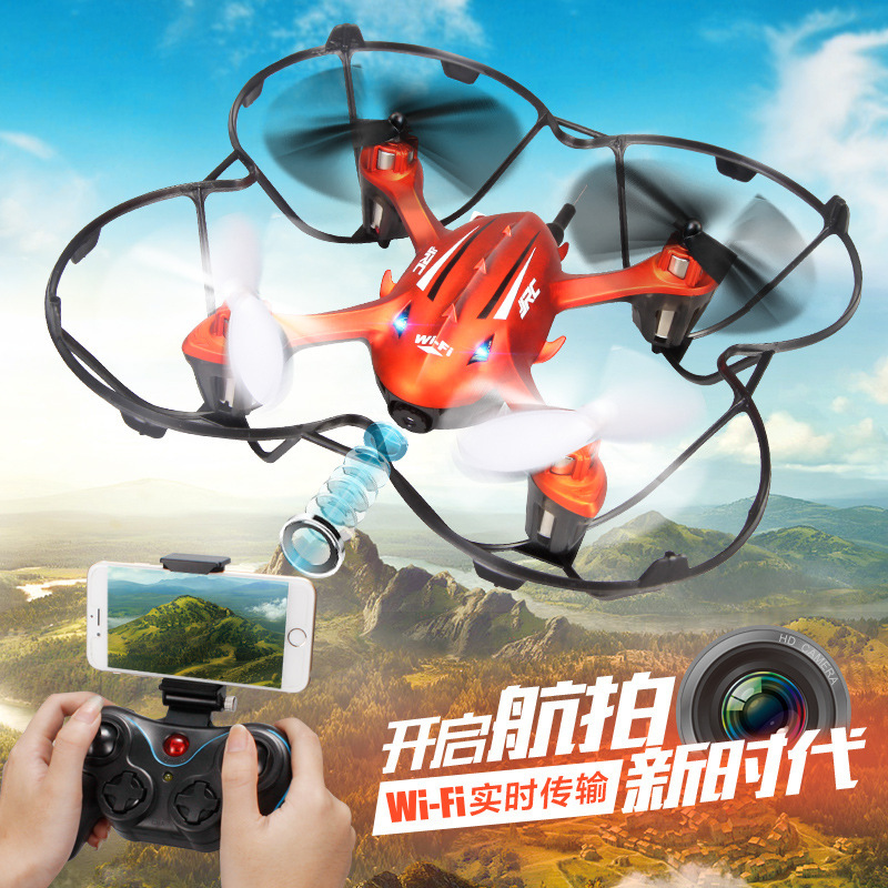 Фотография wifi fpv rc drone H6W with camera 2.4G 4CH 6 Axis Gyro One Press Return remote control rc Quadcopter 360 Degree Everssion gifts