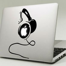 Big Headphones Vinyl Laptop Sticker for Apple MacBook Decal 11″ 12″ 13″ 15″ Air Pro Retina Mac Cover Skin Book Notebook Stickers