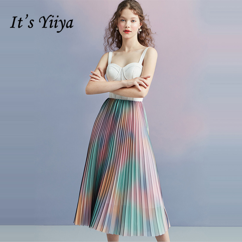 It's Yiiya   Prom     Dresses   Girls Sleeveless Spaghetti Strap Colorful   Prom   Gowns Elegant Party   Dresses   Formal   Dresses   LX1059
