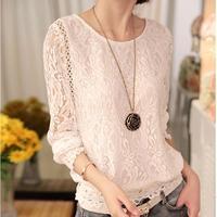 New 2017 Summer Female Ladies White Blusas Women S Long Sleeve Chiffon Lace Crochet Tops Blouses