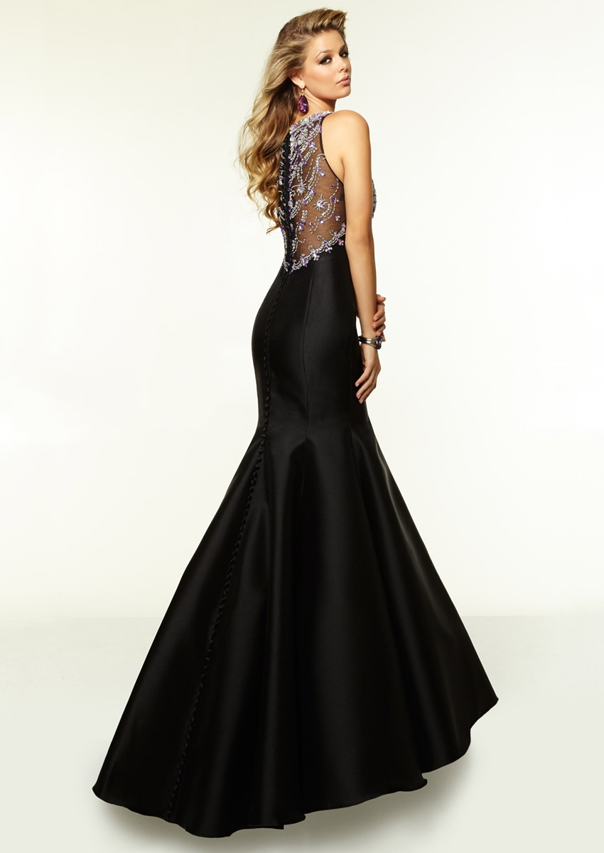 Vestido de festa preto sereia