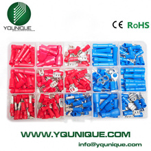 200PCS Assorted Crimp Terminals Set, Wire Connector Kit With Ring Spade Bullet Male/ Female Piggy Back Free Shipping