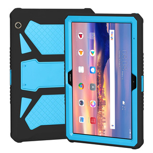 Image 2 - Heavy Duty Armor Case For Huawei MediaPad T5 10 PC and Silicon Cover For MediaPad T5 10 AGS2 W09/L09/L03/W19 10.1 inch cover