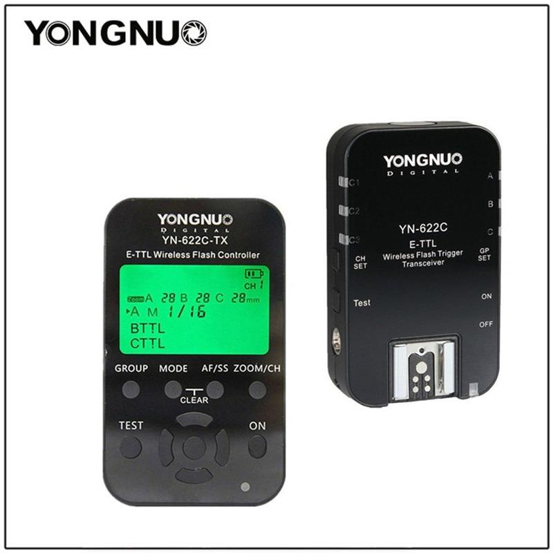 YONGNUO YN-622C KIT YN622N KIT i-TTL Wireless Flash Trigger Kit for Nikon D7200 YN685 For Canon 1100D YN-622N YN622C 500D 60D радиосинхронизатор yongnuo yn622n kit для nikon
