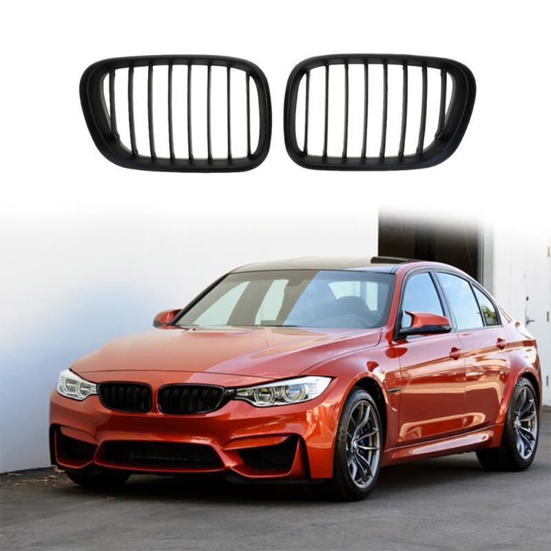 Vodool 2 шт. матовый черный спереди почек решетки для BMW X5 E53 3.0 4.4 4.6 4.8 99 03 автомобилей Гриль передняя ноздри бампер
