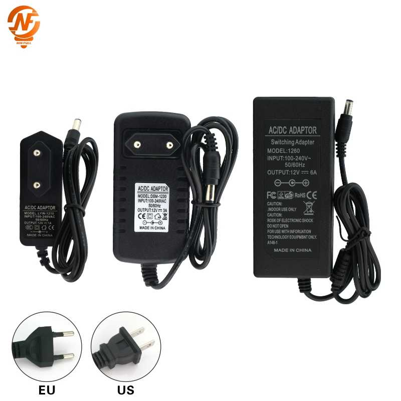 Nin Penuh 12 V Power Supply DC12V Unit 1A 2A 3A 5A 6A Transformator AC 110 V 220 V 220 V untuk DC 12 Volt 12 V LED Driver untuk LED Strip