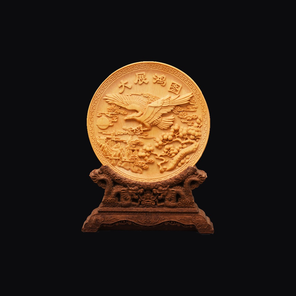 Decoration Of Boxwood Carving Arts And Crafts Home Realize one's ambition  Home Furnishing Articles   chrismas wedding  gift chinese immortals hot new the folk arts and crafts boxwood carving home furnishing articles collection craft gift