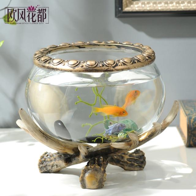 Woonkamer decor gewei aquarium huwelijkscadeau TV kast decoratie ...