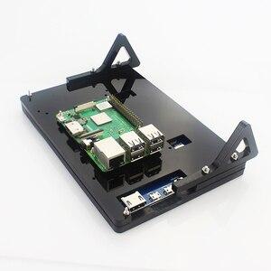 7-дюймовый ЖК-дисплей, сенсорный экран, корпус кронштейна для Raspberry Pi 4/3b +/3B акриловый держатель для 7-дюймового Raspberry Pi LCD 1024*600