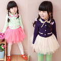 Frete grátis Hot-sell infantil primavera roupas meninas gola de renda tutu Sasa Vestido de alta-grade