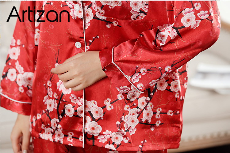 HTB1VSnOb75E3KVjSZFCq6zuzXXaz - Satin Silk Pajamas for Women's Set pyjamas Button Pigiama Donna pjs Winter Mujer Pijama Sleepwear Nightwear Pizama Damska 2Pcs