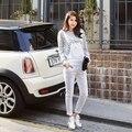 Бесплатная доставка новый белый нагрудник брюки весна и осень женщины Большой размер планки спагетти комбинезон и комбинезон узкие джинсы брюки L