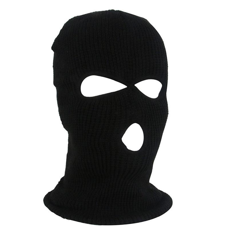 Full Face Mask Ski Mask Winter facemask Cap Balaclava Hood Army Tactical Mask 3 Hole cycling winter mask #4n26 (5)