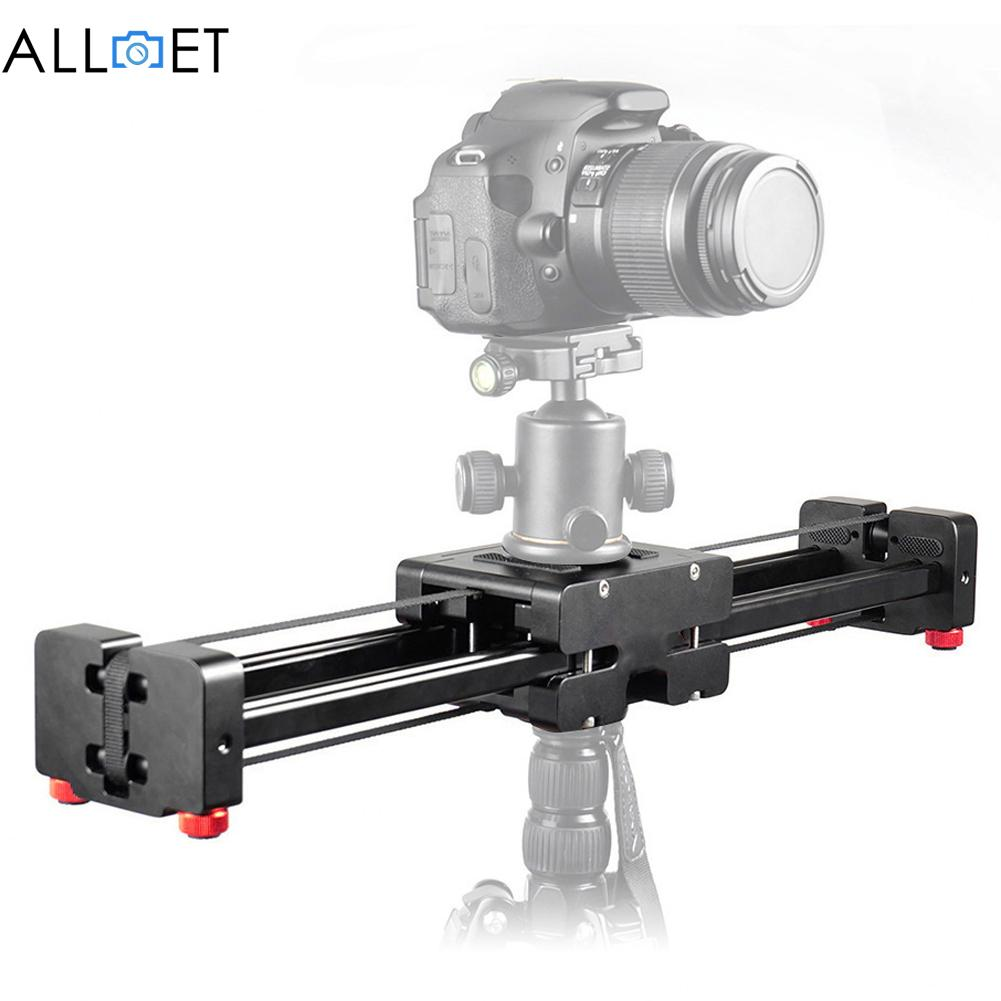 Prix pour Noir dslr caméra vidéo curseur dolly 50 cm piste rail stabilisateur 100 cm coulissante distance pour canon nikon sony de haute qualité