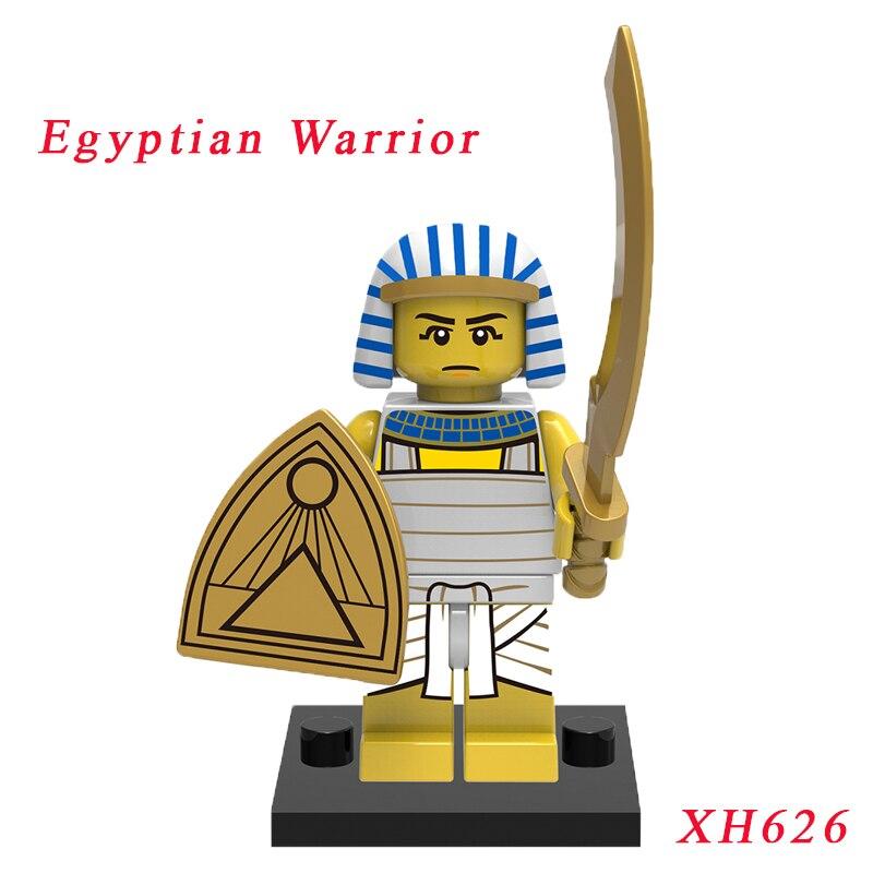 Limited Edition Egyptian Warrior Mini Bricks Single Sale Medieval Egyptian Figure Diy Building Block Education Toys For Children
