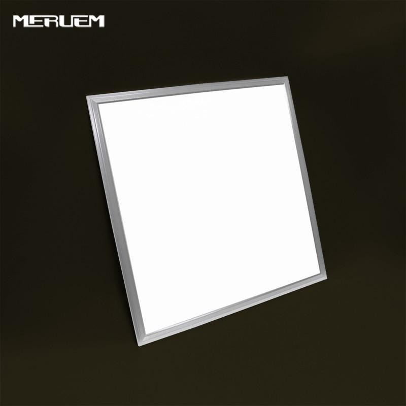 ФОТО 40W 600X600 LED Panel Light SMD3014 Square Led ceiling Light kitchen bathroom bedroom white ceiling downlighting