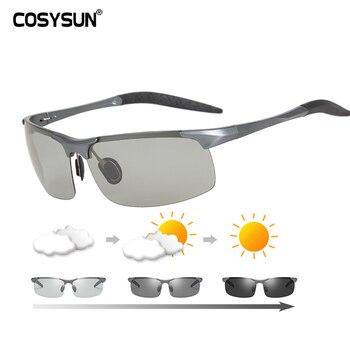 Брендовые фотохромные очки мужские из алюминия и магния мужские солнцезащитные очки для вождения поляризованные очки для вождения автомоб... >> COSYSUN Official Store