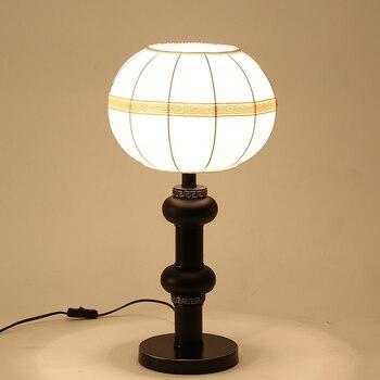 Китайский стиль Настольный ламповый светильник современная гостиная кабинет спальня Напольная Лампа китайская теплая прикроватная насто...