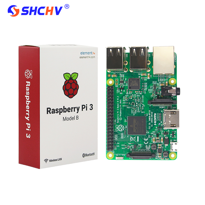 Original Raspberry Pi 3 Model B Board 1GB LPDDR2 BCM2837 Quad-Core Ras PI3 B,PI 3B,PI 3 B with WiFi&Bluetooth Element 14 Version raspberry pi 3 model b 1gb ram quad core 1 2ghz 64bit cpu wifi
