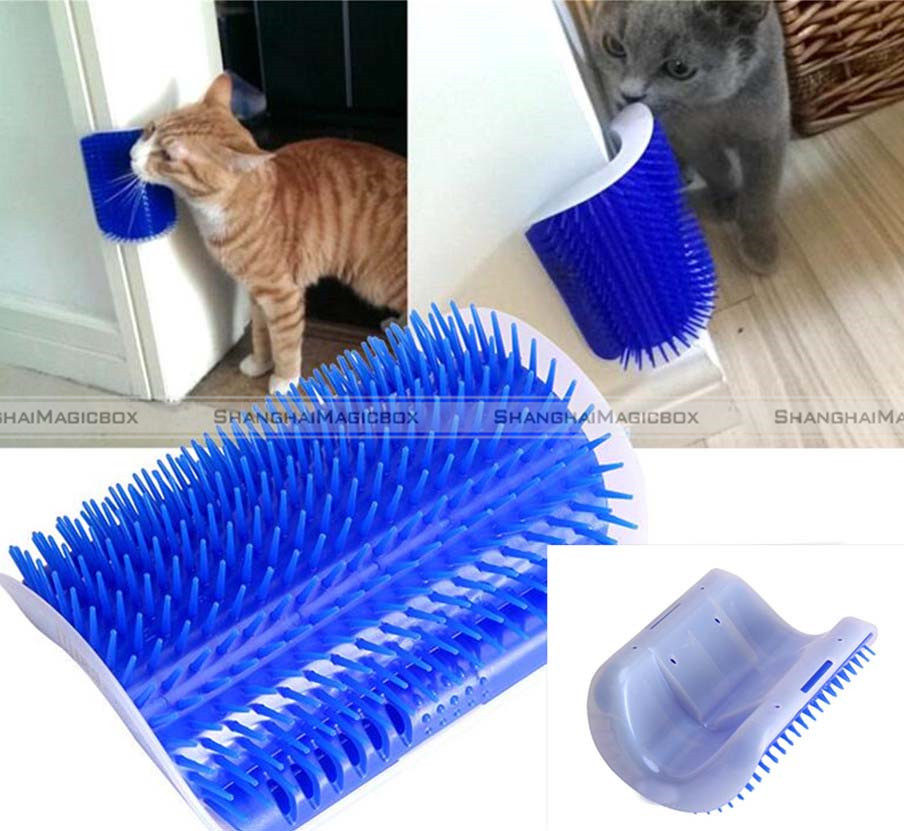 Self Groomer Massager Scratcher For Cats Free Shipping