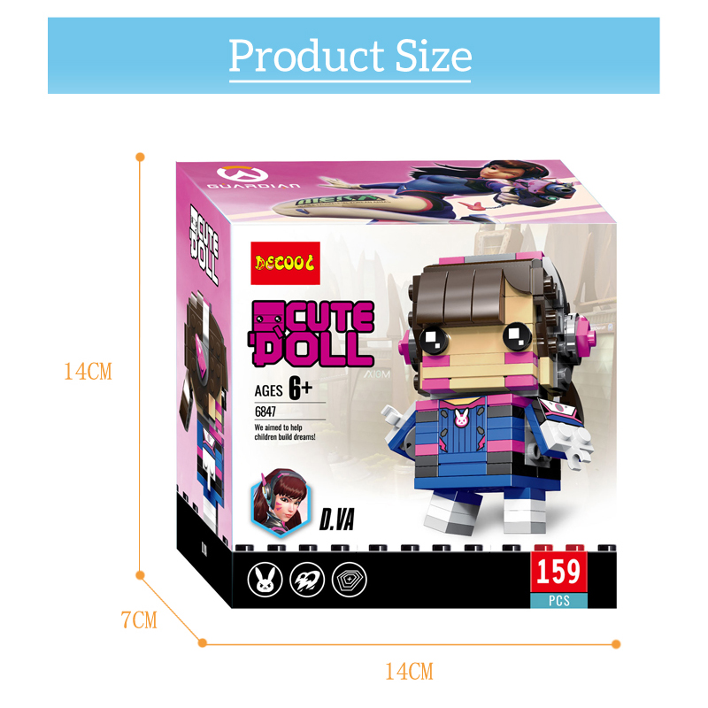 Overwatching Tracer Hanzo Mccree Dva Toys Action Figure Blocks Figures Game Character Figurines  Toy Gift For Boy Men 4