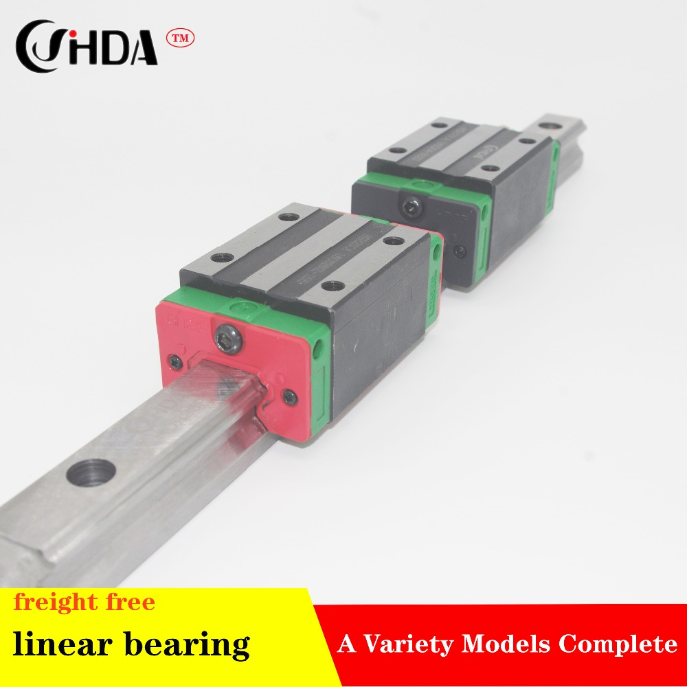 freight free 1Pcs Linear guide HGR +2Pcs linear sliders HGH15 HGH20 HGH25 HGH30 HGH35 HGH45 CA or HA